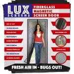 Lux Screens Fiberglass Magnetic Screen Door