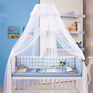 FOXNOVO Mosquito Net,Baby Girls Canopy Bed Netting
