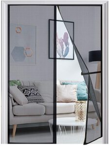 Homitt magnetic screen door Durable Fiberglass Mesh Curtain